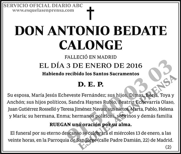 Antonio Bedate Calonge